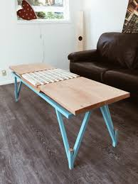 coffee table select modern mid century slat bench or low coffee