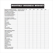 monthly business expense template small business expense sheet