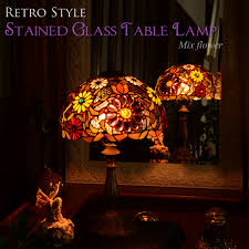 decorplus rakuten global market stained glass style shade table
