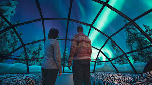 best place to watch the northern lights in canada watch the northern lights directly from your bed glass igloos at