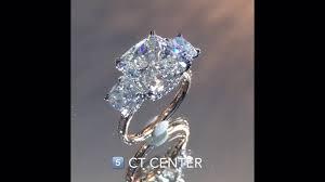 cushion cut diamond engagement rings 5 carat cushion cut diamond two tone engagement ring youtube