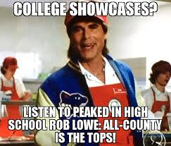 College Guy Meme - my money is on this guy meme peaked in high school rob lowe