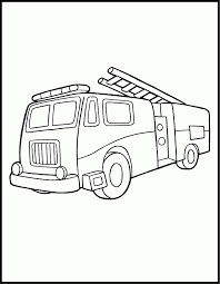 fire truck coloring sheet coloring