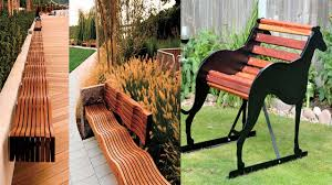 creative wooden outdoor bench design ideas youtube