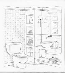 Interior Design Furniture Sketches Sketch Of The Bathroom Interior Sketches And Drawings