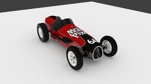pixel race car vintage sprint car 3d model by media pixel 3d model obj 3ds fbx