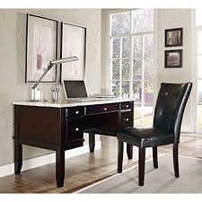 amazon desk and chair amazon com monarch marble top desk 52 w white veneer intended for