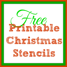 8 best images of large christmas stencils printables printable