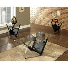 coffee table coffeee modern glass and woodes furniture set