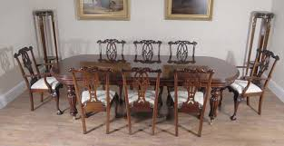 Chippendale Dining Room Set Mahogany Victorian Dining Table Set Chippendale Chairs