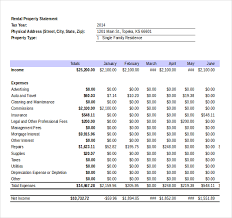 Income And Expenses Excel Template Income Statement Templates 17 Free Word Excel Pdf Documents