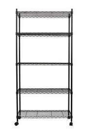 Shelves With Wheels by 5 Tier Nsf Wire Shelving Rack With Wheels Chrome Wire Storage