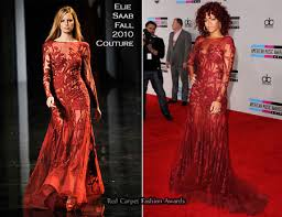 aliexpress com buy elie saab red carpet rihanna red lace long