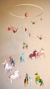 mobile chambre bébé origami mobile bb stunning mobile suspension en spirale chambre
