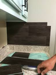 Peel N Stick Backsplash by Our 40 Backsplash Using Vinyl Flooring Re Fabbed