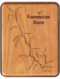 United States Rivers Map by Farmington River Map Fly Box Conneticut Fly Fishing River