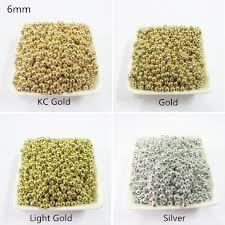 choose color choose color first 6mm 1000pcs lot silver gold spacer beads