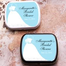 mint to be bridal shower bridal shower blue silhouette mint tins personalized wedding