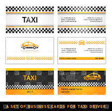 simple business card templates for taxi vector image 17181