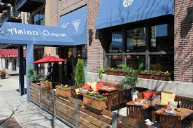 Patio Fence Ideas by Sidewalk Seating At Asian Outpost The South Loop Pinterest