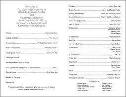 fan wedding programs template programs wording on program sample