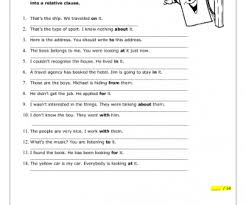 clauses with prepositional verbs worksheet
