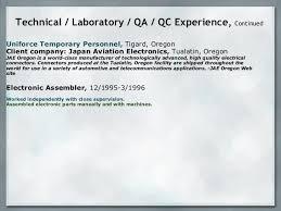 Environmental Technician Resume Sample by Resume Presentation Technician Analyst Environmental Labo