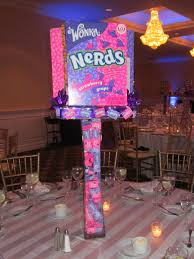 bar mitzvah sign in boards this awesome centerpiece was the nerds table for this candy theme