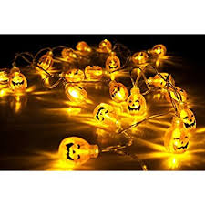 qpey battery operated led string lights 3d pumpkin 10 leds