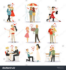 a couple dancing tango cartoon clipart vector toons couple love vector characters isolated stock vector 569752723