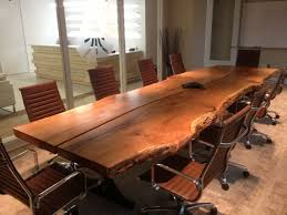Oak Meeting Table Check Out This Conference Table Made From Two 3 Inch Thick White