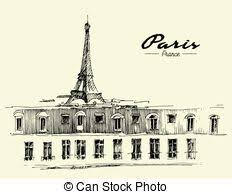 vectors illustration of paris eiffel tower vector art csp16451679