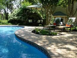 Backyard Pool Landscape Ideas Swimming Pool Awesome Backyard Pool Landscaping With Stripped
