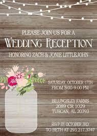 wedding reception invitations 21 beautiful at home wedding reception invitations reception