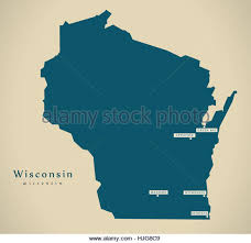 wisconsin map usa map of wisconsin stock photos map of wisconsin stock images alamy