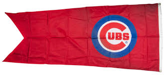 Chicago Cubs Flags Lot Detail 2015 Chicago Cubs Logo Red Flag Flown On Wrigley