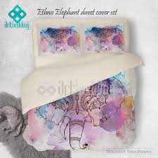 ethno elephant ganesh bedding full size watercolor elephant duvet
