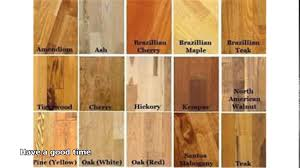 types of hardwood floors