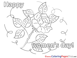 rose coloring pages women u0027s day for free