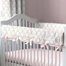 pink and taupe damask crib bedding crib bedding carousel