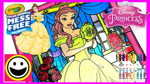 princess belle crayola color wonder coloring pages disney