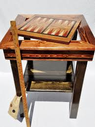 reclaimed wood game table wooden checkerboard table game table backgammon chess or