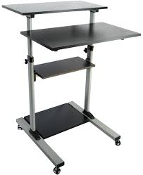 Sit And Stand Computer Desk by Vivo Mobile Height Adjustable Stand Up Desk Computer Work Station