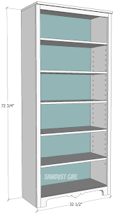 Wood Shelves Build by Free Plans To Build A Tall Bookshelf With Adjustable Shelves From