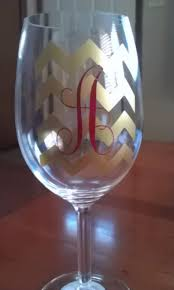 diy monogram wine glasses diy personalized wine glass happy crafters