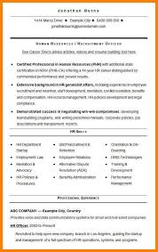 hr resume templates examples of hr resumes hr resume example sample human resources
