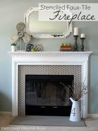 awe inspiring painting tile around fireplace captivating painting