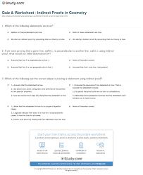 quiz u0026 worksheet indirect proofs in geometry study com