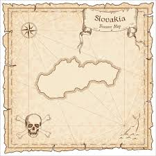 Slovakia Map Slovakia Old Pirate Map Sepia Engraved Template Of Treasure Map