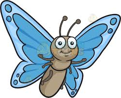 a pretty butterfly with blue wings clipart vector